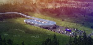 Virgin Hyperloop has unveiled that West Virginia will be home to its Hyperloop Certification Center (HCC). Bjarke Ingels Group (BIG) will design the facility. Rendering courtesy Virgin Hyperloop