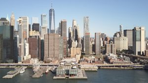 The Howard Hughes Corporation has announced plans for an affordable housing development at 250 Water Street in Lower Manhattan and a revived South Street Seaport Museum as part of the broader Seaport vision. The plans were designed by Skidmore, Owings & Merrill (SOM). Photo courtesy Howard Hughes Corporation/SOM