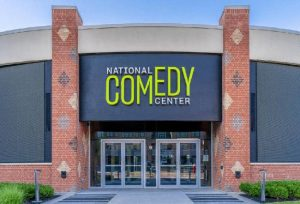 Custom-made steel windows and doors were used to unite the old and the new in the National Comedy Center building in Jamestown, New York. Photo © Chautauqua 360 Photography