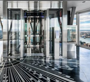 The Empire State Building's 102nd floor observatory offers sightseers a clearer, safer viewing experience with fire-rated glass. Photo courtesy Technical Glass Products