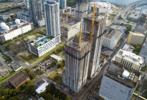 Construction tops off at Downtown 5th development in Miami's central business district. Photo courtesy Melo Group