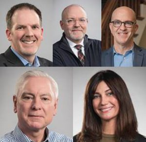 The Architectural Team (TAT) has promoted Jay Szymanski, AIA, NCARB, LEED AP, Gary Kane, AIA, NCARB, LEED AP, Edward Bradford, AIA, NCARB, LEED AP, and William Moran, as principals. Additionally, Meghann Van Dorn, LEED ID+C, has joined the firm as director of interior design (left to right). Photos courtesy TAT