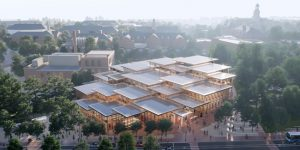 Bjarke Ingels Group (BIG) has won an international competition to design the new student center for Johns Hopkins University, Baltimore, Maryland. Images courtesy BIG