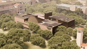 Adjaye Associates has been chosen to design a new student center at Rice University, Houston, Texas. Rendering courtesy Adjaye Associates
