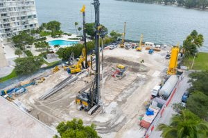 Construction is underway for the first-of-its-kind subterranean parking garage at the Una Residences condominium in Miami, Florida. Images courtesy OKO Group/Cain International
