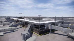 Joint venture of Skanska, New South Construction, FS360, and Synergy Construction selected for $124.5 million Hartsfield-Jackson Atlanta International Airport Concourse T-north extension. Rendering courtesy City of Atlanta DOA