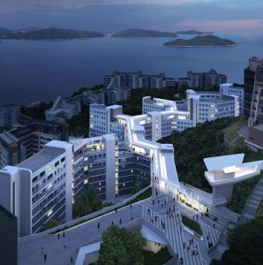 Zaha Hadid Architects and Leigh & Orange Limited have revealed designs for a new student residence development at the Hong Kong University of Science and Technology (HKUST) in China. Rendering courtesy Visual Brick