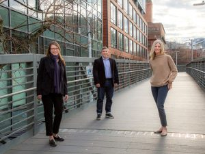LMN Architects expands its leadership team with the addition of three new partners: Julie Adams, Osama Quotah, and Pamela Trevithick. Photo courtesy LMN Architects