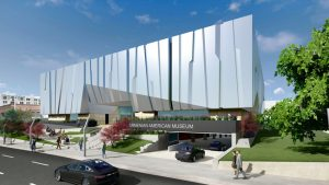 The Armenian American Museum and Cultural Center of California, Glendale, California, will break ground this summer. Rendering courtesy Armenian American Museum