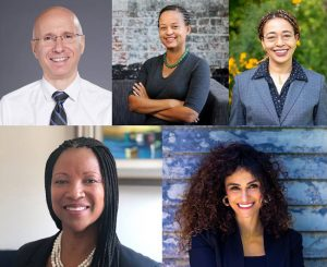 Dr. Aaron Bernstein, Anyeley Hallova, Ruth Thomas-Squance, Lakisha Ann Woods, and Marwa Zaatari have been elected as the U.S. Green Building Council's (USGBC's) 2021 board of directors. Photos courtesy USGBC