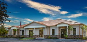 Durable exterior coating gets the Florida Roofing & Sheet Metal Contractors Association's (FRSA's) headquarters in Orlando, Florida, ready for the long haul. Photo courtesy APV Engineered Coatings