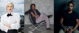 United States Artists (USA) names Jennifer Bonner of MALL, landscape architect Walter Hood, and artist and designer Olalekan Jeyifous as 2021 Fellows in the Architecture & Design category. Photos courtesy Christopher Dibble, Walter Hood, Temi Kujore