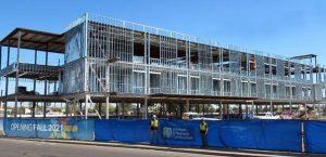 Construction has topped off at the Reunion Rehabilitation Hospital in Phoenix, Arizona. Photo courtesy Adolfson & Peterson Construction