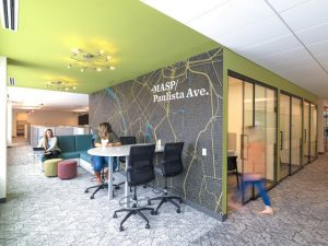 Dyer Brown designed International Data Group, Inc.'s new workplace in Needham, Massachusetts, to serve three distinct business divisions under one roof. Photo courtesy Dyer Brown