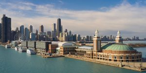 The hotel Sable at Navy Pier, Chicago, Illinois, opens atop one of the city's historic and iconic landmarks. Photo courtesy Hilton