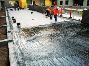 The magazine's series of sponsored e-books continues with a discussion on the evolution of fluid-applied waterproofing. Photo courtesy W.R. Meadows