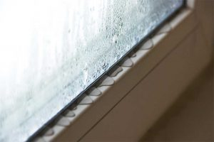 Condensation on glazed areas of building envelopes may seem innocuous. However, it can damage adjacent building materials  through staining, mold growth, or rot that can lead to remediation. Photos courtesy FGIA