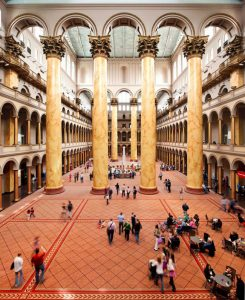 The National Building Museum in Washington, D.C., will be reopening after a 16-month closure due to renovations and the COVID-19 pandemic. Photo © Kevin Allen. Photo courtesy National Building Museum