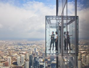 Skidmore, Owings & Merrill (SOM) has completed the transformation of Chicago's Skydeck at Willis Tower. Photo © Dave Burk. Photo courtesy SOM
