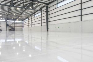 Thin-film floor systems can help achieve the desired aesthetics. They can also be customized for skid and/or chemical resistance.