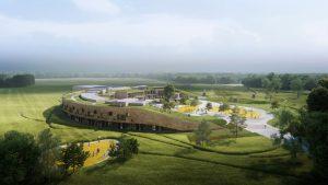 Ground has broken on the Henning Larsen-designed New School in Sundby, Denmark, marking the launch of a historic project for Danish sustainable school construction. Rendering courtesy Henning Larsen