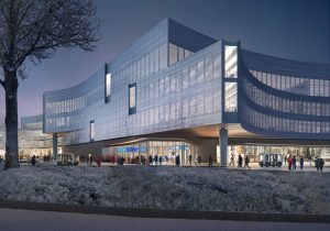 Snøhetta has revealed designs for Ford's new Central Campus Building in Dearborn, Michigan. Image courtesy Snøhetta/Plomp