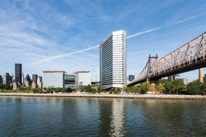 The House at Cornell Tech on Roosevelt Island, New York City, features a dynamic coating custom-formulated to shift from silver to a gold or champagne color, depending on the angle of view and light. Photo courtesy PPG. Photo © Jonathan Morefield