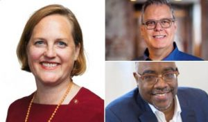 Emily A. Grandstaff-Rice, FAIA, (left) Timothy C. Hawk, FAIA, (top) and Kevin M. Holland, FAIA, (bottom) have been elected to the American Institute of Architects' (AIA's) board of directors. Photos courtesy AIA