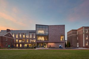 Designed by Payette, the Lafayette College Rockwell Integrated Sciences Center, Easton, Pennsylvania, is a 2021 recipient of the American Institute of Architects' (AIA's) Education Facility Design Award. Photo © Robert Benson Photography