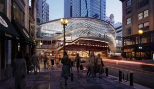 Skidmore, Owings & Merrill (SOM) and TranSystems are transforming State/Lake Station, one of the Chicago's busiest train stops. Image © Chicago Department of Transportation