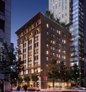 Page & Turnbull, in collaboration with Handel Architects, will be restoring the 10-story Aronson Building in San Francisco, California, as part of a major new mixed-use development. Image courtesy Page & Turnbull