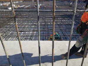 Figure 3: Waterproofing repairs in a mat slab.