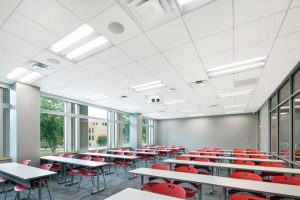 The magazine's series of sponsored e-books continues with a focus on specifying ceiling panels. Photo © Robert Pepple. Photo courtesy Rockfon