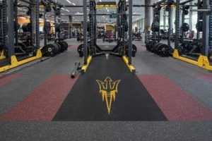 Arizona State University used a high-performance flooring solution during the remodel of its student fitness center to transform it into a space that fosters health, wellness, engagement, and community. Photo courtesy Ecore