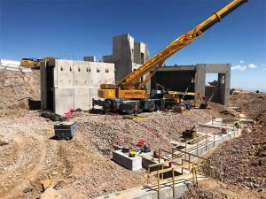 At 4302 m (14,115 ft) above sea level, the Summit House project, in Colorado Springs, Colorado, is recognized as one of the highest ongoing construction sites in North America.