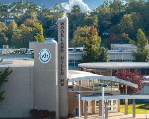 Woodland Hills School District, North Braddock, Pennsylvania, won the 2021 'School System Award' from the U.S. Green Building Council (USGBC) and Green Schools National Network. Photo via Woodland Hills School District Facebook